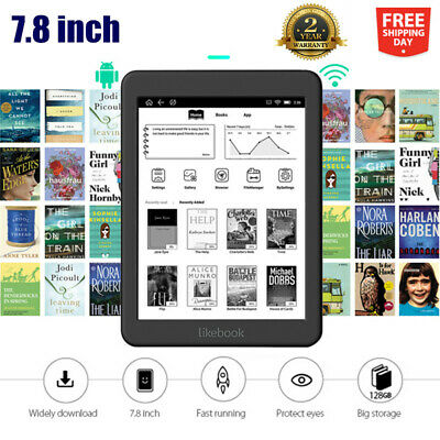 $209.99 • Buy Likebook Mars T80D 7.8  300ppi E-Ink EBook Reader Android 6.0 Octa Core 2+16GB