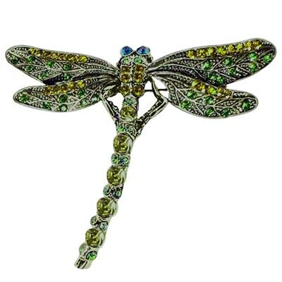 £1.49 • Buy Women Crystal Dragonfly Brooch Pin Animals Insects Accessory Retro Jewelry Gift