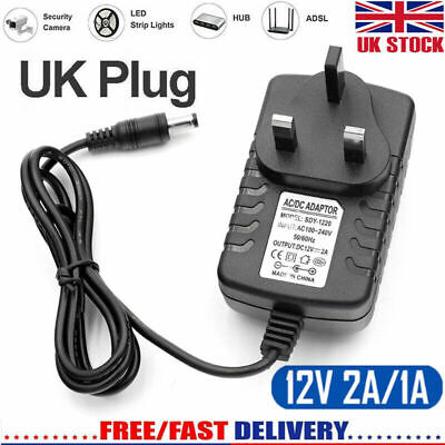 Universal AC/DC 12V 1A/2A Mains Power Supply Adapter Charger Transformer UK • 5.79£
