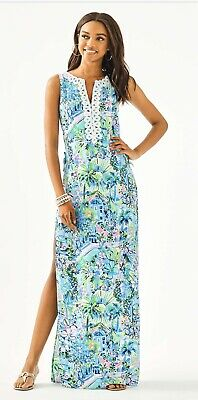 $89.99 • Buy NWT Lilly Pulitzer Donna Maxi Romper Multi Lillys House Size 4