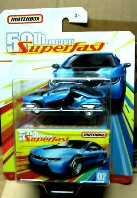 $2.99 • Buy MATCHBOX SUPER FAST 50Th ANNIVERSARY 16 BMW I8 THE CARD IS A LITTLE FOLDED B