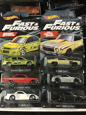 $14.99 • Buy 2019 Hot Wheels Fast & Furious Complete Set Of 6 Walmart Exclusive In Stock
