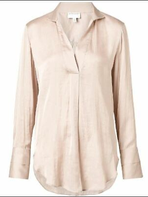 AU19 • Buy WITCHERY Womens Layer Cuff Shirt, Nougat Col,Size 12, Slightly Altered, VG Cond