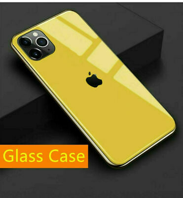 AU11.99 • Buy Luxury Plated Tempered Glass Case Cover With Logo For IPhone 11 Pro Max XR 8 7 6
