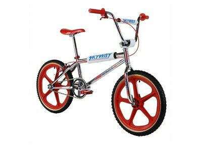 AU1399.99 • Buy Old School Bmx Skyway Ta 20 Replica Bmx Bike Chrome/red Wheel