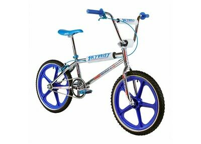 AU1399.99 • Buy Old School Bmx Skyway Ta 20 Replica Bmx Bike Chrome/blue Wheel