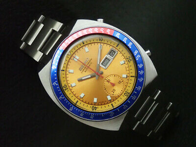 $ CDN400.95 • Buy Vintage SEIKO 6139-6002 Automatic Chronograph Mens Watch PEPSI Yellow