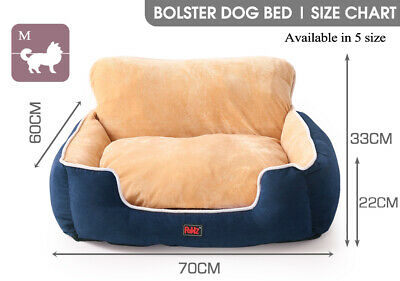 AU47.99 • Buy PaWz Pet Bed Dog Beds Bedding Cushion Soft Pad Calming Puppy Cat Pillow Blue