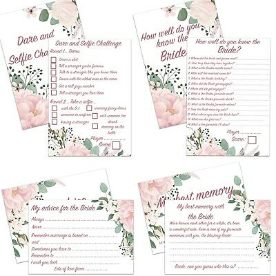 25 Pack Hen Night Party Bride Card Games Bridal Shower Advice Favours Keepsake  • 3.99£