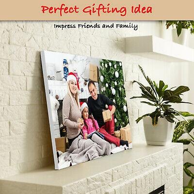 Personalised Canvas Print. Your Photo/Image Printed & Box Framed • 9.50£
