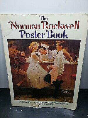 $ CDN90.78 • Buy Norman Rockwell Poster Book~20 Full Color~ HUGE 15 X11  Size~LARGE Posters 1976
