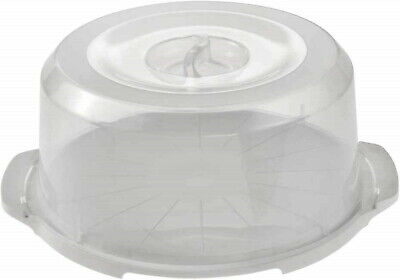 ROUND Large Plastic Cake Storage Box Cupcake Caddy Carrier Container Lid • 9.99£