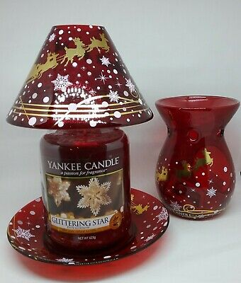 Yankee Candle Christmas Accessories . Shade & Tray, Wax Melt Warmer. • 19.99£