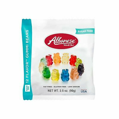 $7.99 • Buy Albanese Gummi Bears 12 Flavors, Sugar Free, 3.5oz Bag