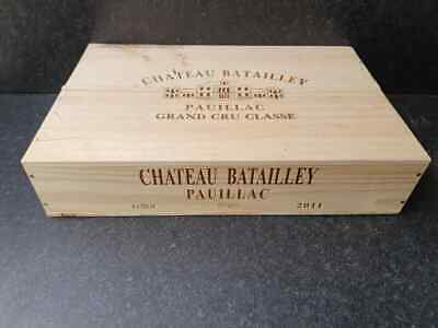 £21.95 • Buy Wine Box With Lid - Flat Half Size Genuine French Wooden Wine Crate Storage