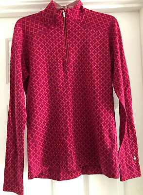 $48.99 • Buy Womens Smartwool Merino Wool Geometric 1/4 Zip Pullover LNC Sz XL