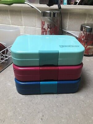 AU40.67 • Buy Yumbox Original X 3 Blue, Pink & Teal 6 & 4 Compartments