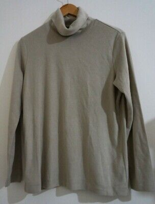 AU12 • Buy Uniqlo Heattech Size Xl Long Sleeved Turtle Neck Top Beige