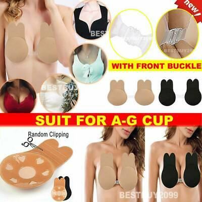 A-G CUP Invisible Breast Lifting Bra Silicone Rabbit Nipple Covers Lift Tape Bra • 2.29£