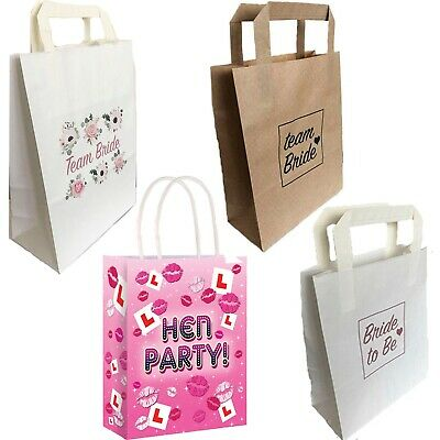 Hen Party Bags Team Bride To Be Favours Goodies Night Do Girls Pink Rose Gold • 0.99£