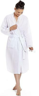 Camille Womens Ladies Lightweight Dot Print Dressing Gowns Robes • 23.99£