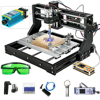 £214.98 • Buy 3018 Pro CNC Router + 5500mw Laser Engraver Cutter With Offline Controller Wood