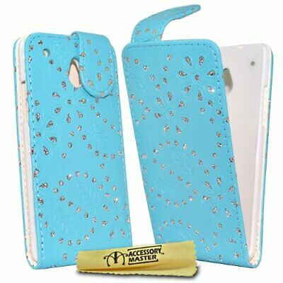 AU33.70 • Buy Accessory Master Leather Case With Crystals For HTC One Mini Sky Blue