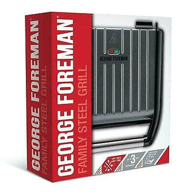 £35.45 • Buy George Foreman Medium Family Health Grill 5-Portion Fat Reducing Non-Stick, Grey