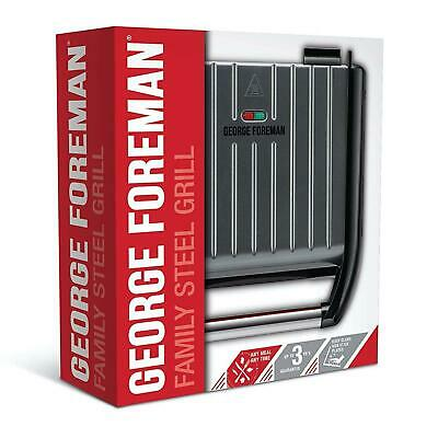 £36.56 • Buy George Foreman Medium Family Health Grill 5-Portion Fat Reducing Non-Stick, Grey