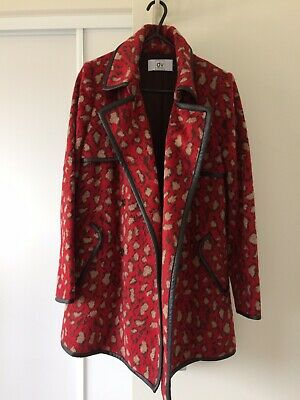 AU90 • Buy Dolce Vita Urban Outfitters Red Leopard Print Coat XS-S