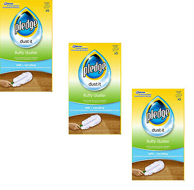 3 X Pledge Fluffy Dusters Refills - Pack Of 5 • 20.95£