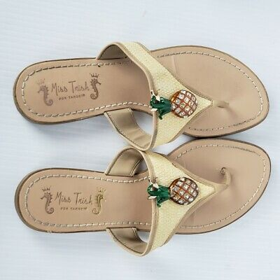 £5.81 • Buy Miss Trish Pineapple Thong Flip Flop Sandals Womens Size 8