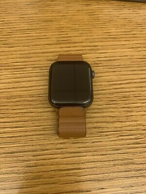 $ CDN525.83 • Buy Apple Watch Series 5 44mm Space Gray Aluminum Saddle Brown Leather Band GPS NIB