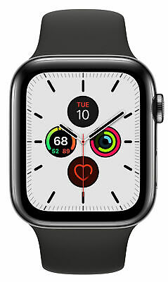 $ CDN69.67 • Buy Apple Watch Series 5 44mm Space Black Stainless Steel Case (GPS + Cellular)