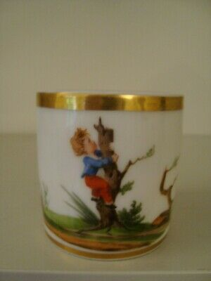 £20 • Buy 19thC French Paris Porcelain Coffee Cup -child Climbing Up Tree  20/367