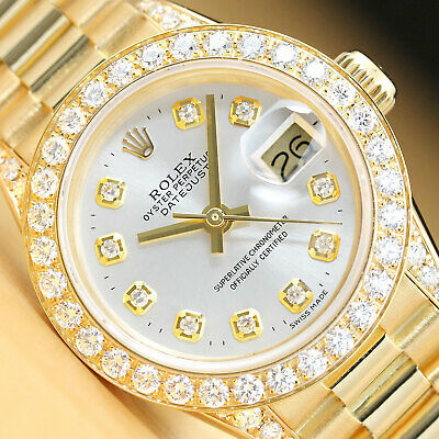 AU10320.38 • Buy Rolex Ladies President 18k Yellow Gold 1.10 Ct Diamond Bezel Watch