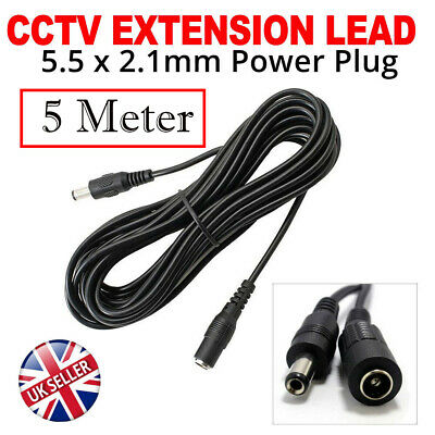 Extension Lead Cable Cord For Ac/dc 5v 9v 12v Power Supply Adapters 5.5x2.1 • 4.99£