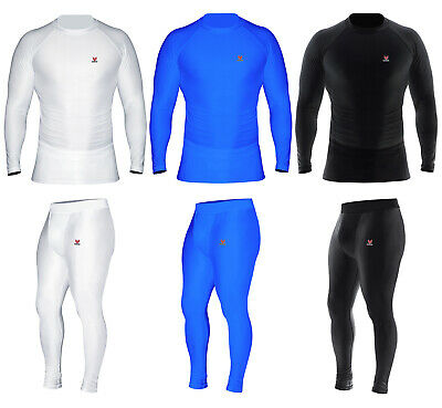 £23.36 • Buy Mens Compression Top Thermal Base Layer Armour Sports Athletic Gym Running Pants