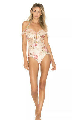 $325 • Buy Zimmerman Corsair Corset Ruffle Floral One Piece (Size 1)
