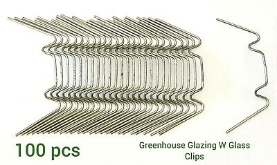 Greenhouse Glass Clips W Glass Clips For Greenhouse Spares Pack Of 100 Pcs • 4.79£