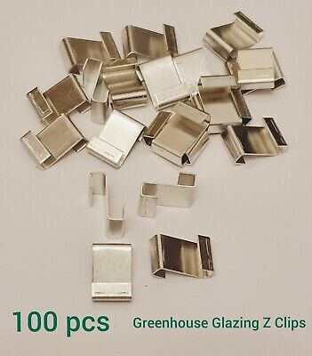 Greenhouse Spare Parts Glazing Clips 'Z' Glass Clips For Greenhouse 100 Pcs • 4.99£