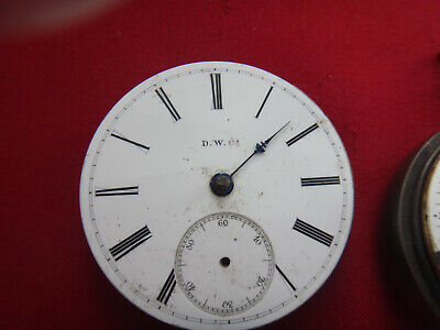 $ CDN44 • Buy A.W. CO  Key Wind Pocket Watch Movement For Repair Or For Spare Parts