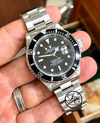 $ CDN11119.44 • Buy ROLEX Submariner 16610 Oyster Date SS Black Dial Men's Watch Box Papers