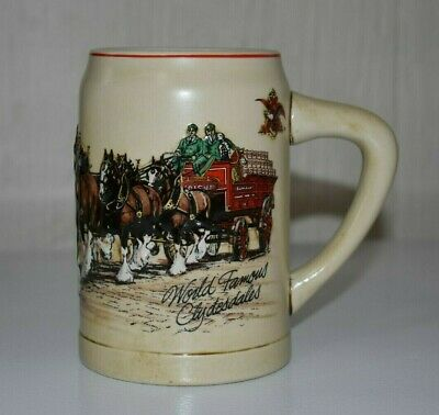 $ CDN7.52 • Buy 1987 Budweiser World Famous Clydesdales Stein