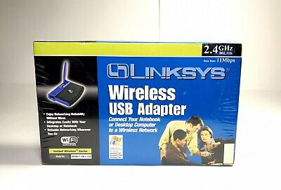$14.95 • Buy Linksys Wireless USB WiFi Adapter - Model WUSB11 Ver 2.6 - 2.4 GHz 802.11b - NEW