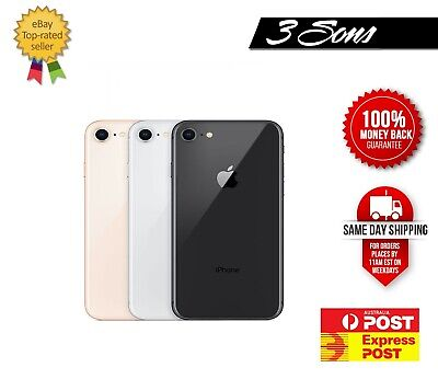 AU345 • Buy Apple IPhone 8 64/256 GB Silver Grey Gold Red Unlocked Cheap Smartphone [AU SEL]