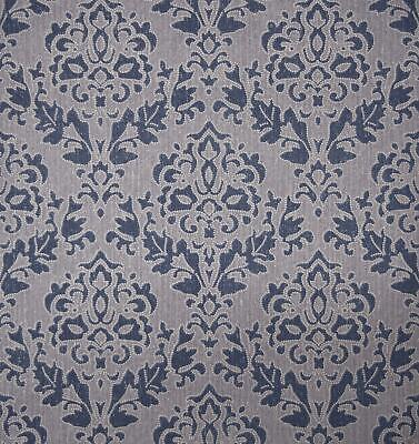 Blue Damask Wallpaper Superior Wallcoverings Textured Paste The Wall • 9.99£
