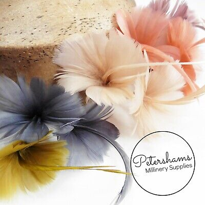 Petite Double Goose Feather Flower For Millinery, Fascinators Over 20 Colours! • 3£