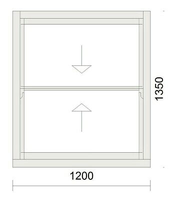 Timber Sash Window - Pre Finished In White - Double Glazed - 1200mm W X 1350mm H • 865£