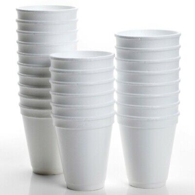 200 X Disposable Foam Cups Polystyrene Coffee Tea Cups For Hot Drinks 10oz • 11£